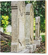Memphis Elmwood Cemetery Monument - Four In A Row Wood Print