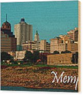 Memphis  Wood Print