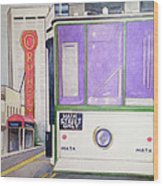 Memphis Trolley Wood Print by Loretta Nash