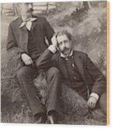Men, 19th Century Wood Print
