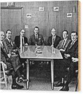 Men At A Business Meeting Wood Print