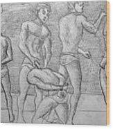 Men In Jail Wood Print