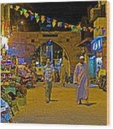 Men In The Spice Market In Aswan-egypt  Wood Print