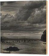 Menacing Clouds Wood Print