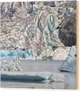 Mendenhall Glacier Detail Juneau Alaska Wood Print
