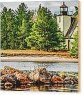 Mendota Bete Grise Lighthouse Wood Print