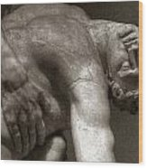 Menelaus Supporting The Body Of Patroclus Wood Print