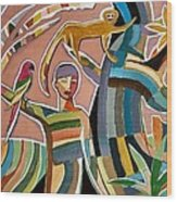 Menino Na Amazonia II Wood Print