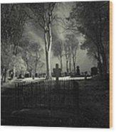 Menlo Cemetery Wood Print by Peter Skelton