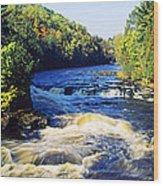 Menominee River At Piers Gorge, Upper Wood Print