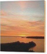 Menorcan Sunset Wood Print