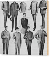 Men's Fashion, 1902 Wood Print