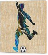 Mens Soccer Wood Print