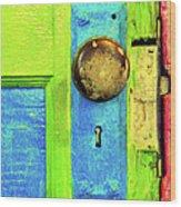 Mercado Door Wood Print