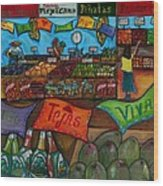 Mercado Mexicana Wood Print