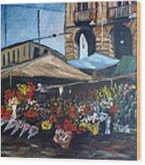Mercato Porta Palazzo Wood Print