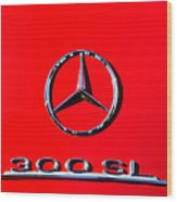 Mercedes 300 Sl Emblem -0121c Wood Print