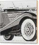 Mercedes 540k  - Parallel Hatching Wood Print