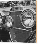 Mercedes 544k Grille - Bw Wood Print
