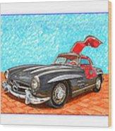 Mercedes  Benz 300 S L Gull Wing Wood Print