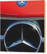 Mercedes-benz 300 Sl Grille Emblem Wood Print