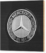 Mercedes-benz 6.3 Gullwing Emblem Wood Print