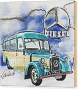 Mercedes Benz D-2600 Bus Wood Print