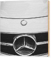 Mercedes-benz Grille Emblem -0230bw Wood Print