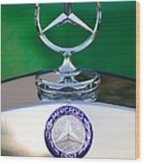 Mercedes Benz Hood Ornament 3 Wood Print