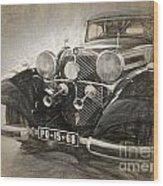 Mercedes Benz Vintage Wood Print