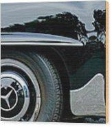 Mercedes-benz Wheel Emblem Wood Print