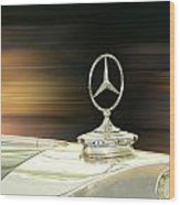 Mercedes Hood Ornament Wood Print