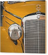 Mercedes Retro Wood Print