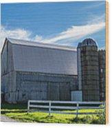 Mercer County Barn Wood Print