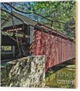 Mercers Mill Covered Bridge Wood Print