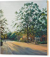 Merchants Square In The Late Afternoon Wood Print