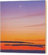 Mercury & Venus Conjunction Closeup Wood Print