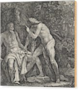 Mercury Accuses Battus, Moyses Van Wtenbrouck Wood Print