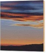 Mercury At Sunset Wood Print