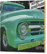 Mercury Truck Bw Background Wood Print