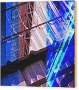 Merged - Blue Barbed Wood Print