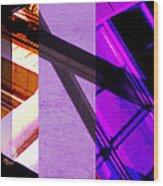 Merged - Purple City Wood Print