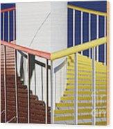 Merging Steps Wood Print by Robert Woodward