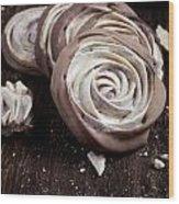 Meringue Rose Wood Print