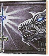 Merlin's Dragon Wood Print