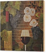 Merlot For The Love Of Wine Wood Print