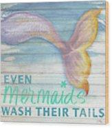 Mermaid Bath II Wood Print