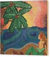 Mermaid Beach Wood Print by Oasis Tone