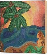 Mermaid Beach Wood Print