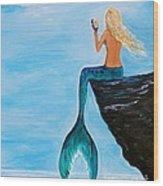 Mermaid Glam Day Wood Print
